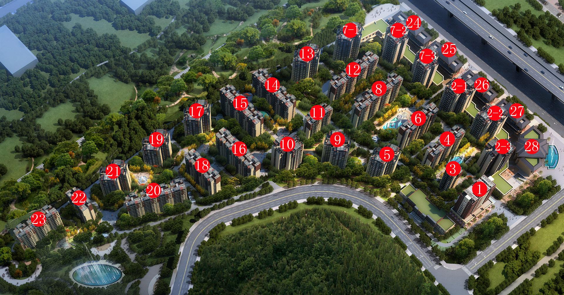 现代欧式园林社区结合青龙山原貌景观设计一步一景