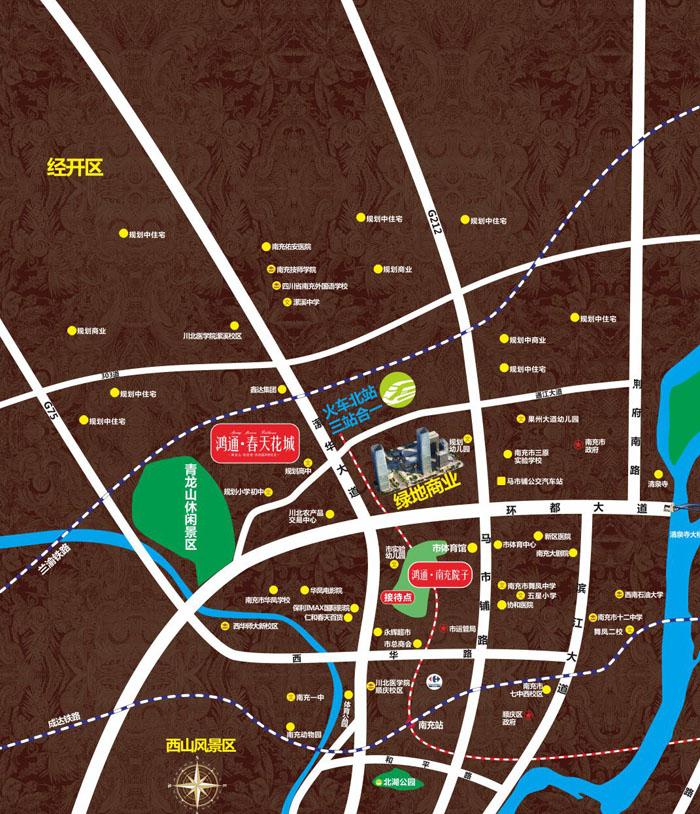 郫县西华大学离郫县汽车站地图