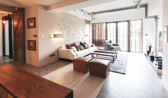 设计师自己的住宅 个性极简工业风