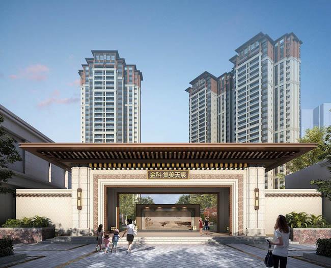 新亚洲风格建筑_金科集美天宸:新亚洲风格演绎东方建筑美学